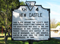 Historic New Castle sign
