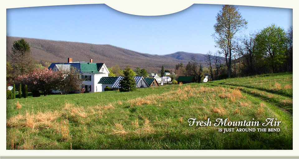 Fresh mountain air is just around the bend - Highland County, Virginia