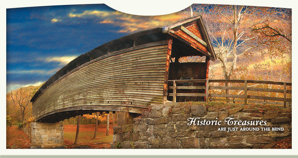 Historic treasures are just around the bend - Humpback Bridge in Alleghany Highlands, Virginia