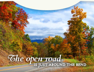 The open road is just around the bend - New Castle in Craig County, Virginia