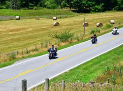 Motorcycle tour through Highland County