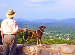 New Castle Rt 42 Overlook - Blair Jones with dog, Paige